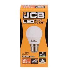 JCB LED 6w = 40w BC/B22 Golf Ball Bulbs Bayonet Cap Cool White [Energy Class A+]