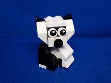 Lego Custom Built Panda Bear w/Moving Head -- Animal Figure