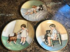 Lot of 3 Vtg Hamilton Collection Child's Best Friend Collector Plates ~ Gutmann