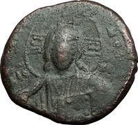 JESUS CHRIST Class A2 Anonymous Ancient 1025AD Byzantine Follis Coin i58935