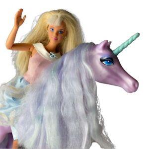 Vintage 90's Barbie Unicorn Princess Fashion Doll 1993 Mattel Horse Bangs
