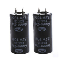 Hot 2Pcs Super Capacitor 2.7V 100F Ultra Capacitor Farad