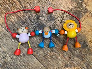 Selecta Wooden Pram Toy / Pram Chain