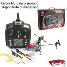 Drone Radiocomandato 4.5 Canali Elicottero Provvisto di Led 2 Batterie e Ricambi