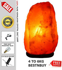 Himalayan NATRUAL SALT LAMP Rock Crystal 4 TO 5KG