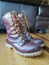 Vintage Knapp Men's Boots COMB-LAST Steel Safty Toe Brown Leather Wide Sz 7.5 EE
