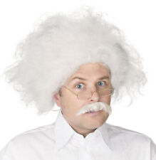 Adult Albert Einstein Scientist Costume Wig & Moustache
