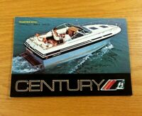 CENTURY BOAT COMPANY Vintage 1979 Fold Out Advertising Flyer Pamphlet Booklet