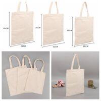 Cotton Plain Canvas Creamy White Natural Shopping Shoulder Tote Shopper Bag