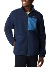 Columbia Mens Rugged Ridge Sherpa Fleece Jacket  2XL XXL Blue Front Zip Big Tall