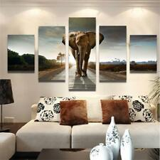 Canvas Print Wall Decor Oil Painting Art Adorned Picture-Elephant Unframed L