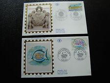 FRANCE - 2 enveloppes 1er jour 1994 (martigues/cour de cassation) (cy45) french
