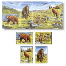 IRL9918 Prehistoric animals 4 pieces + SS MNH IRELAND 1999