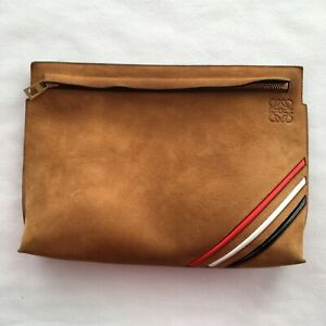 Loewe T Pouch clutch bag, Loewe bag, clutch bag, suede handbag, ladies handbag