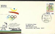 SRI LANKA 1992 FIRST DAY COVER, SUMMER OLYMPICS BARCELONA, RUNNING
