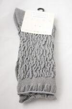 Falke ~ RUCHED GLITTER ~ ankle socks SMALL UK  shoe 2.5 -5 silver