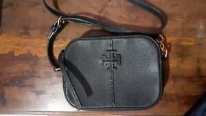 Tory Burch McGraw Leather Camera Bag Black