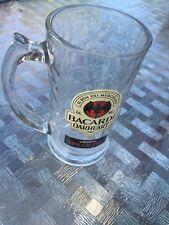 Bacardi Oakheart Rum Stein-14 oz Beer Mugs, Heavy Glass Drinking Stein