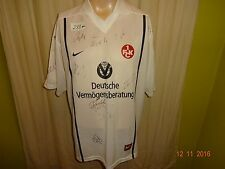 "1.FC Kaiserslautern Nike Auswärts Trikot 2000/01 ""DVAG"" + Handsigniert Gr.XL TOP"