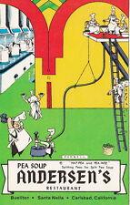 Pea Soup, Andersen's Restaurant, Bueliton, CA, Std Chrome Postcard