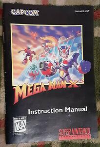 Official vintage Capcom Mega Man X3 instruction manual booklet MegaMan Nintendo