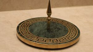 versace pattern Rounded green Marble Stone Serving Cutting Platter Cheese Cake