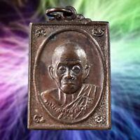 LP. Koon Genuine Thai Buddha Amulet Pendant Life Protect Wealth Talismans Lucky