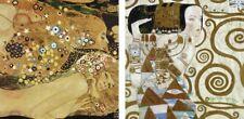 Wand Bild Gustav Klimt Menschen Frau Malerei Ocker 39x39x1,2 cm A7DZ