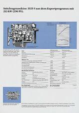 Mercedes 1929 S Sattelzugmaschine Exp. Datenblatt Technische Daten 1988 Prospekt