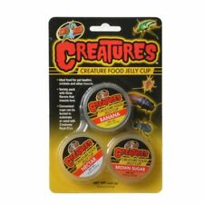 LM Zoo Med Creatures Creature Food Jelly Cup 3 Pack - (0.56 oz/16 g Each)