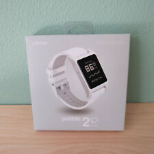 New Sealed Pebble 2 + Heart Rate Smart Watch- White/White