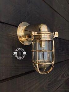 Happisburgh ~ Solid Brass Bulkhead Wall Light   Swan Porch Bathroom Outdoor