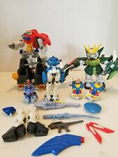 Gundam Action Figure Lot w/ weapons & miscellaneous parts.