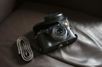 PU Leather Full Camera Case bag cover for FUJI X100F X100T X100S Black + strap