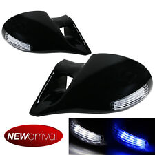 For 99-04 E46 2DR M-3 Style LED Signal Manual Glossy Black Side View Mirror