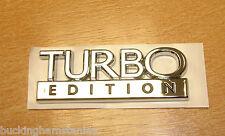 SAAB TURBO EDITION CHROME BADGE, GENUINE EMBLEM BRAND NEW  9-3 9-5