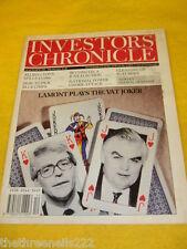 INVESTORS CHRONICLE - NORMAN LAMONT & VAT - MARCH 21 1991