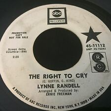 Rare Northern Soul Promo Lynne Randell An Open Letter / The Right to Cry 1968
