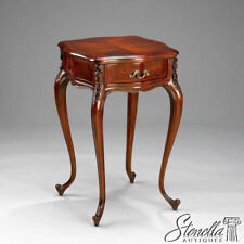 L21612: French Louis XIV Style Red Mahogany Nightstand tables ~ New