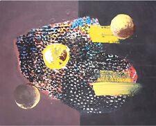 HUILE SUR PANNEAU, Istanbul planète N°3, Outsider Art. Singulier. ht347