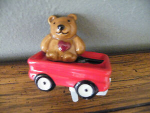 Nora Fleming Mini A220 BEAR HUG - St. Jude's/TEDDY BEAR/WAGON/Retired/NEW TAG