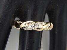 Designer 14k Yellow Gold Diamond Braided Band Wedding Ring .05 tcw H/SI