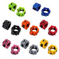 2pcs Body Building Hantel Clip Gewichteheben Spinlock Hantel Kragen #R