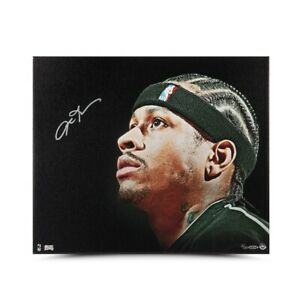 """Allen Iverson Autographed 20x24 Canvas  """"Up Close and Personal"""" 76ers #/30 UDA"""
