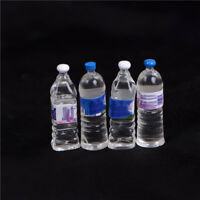4X Dollhouse Miniature Bottled Mineral Water 1/6 1/12 Scale Model Home Decor YL