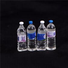 4x Dollhouse miniature bouteille d'eau minérale 1/6 1/12 modèle d'échelle XH