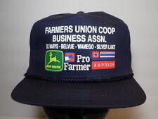 Vintage 1990s FARMERS UNION CO-OP JOHN DEERE Pro Farmer Advertising SNAPBACK HAT