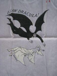 ' I Saw Dracula ' Edward Gorey, T-Shirt, Women's Small , 1977 Old Stock, Nice