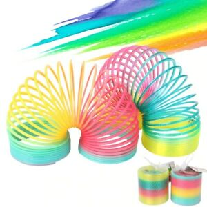 """2"""" Small Rainbow Magical Spring Slinky Coil Circles Colorful Toy Children Kids"""