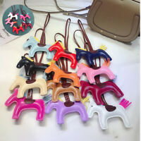 Pendant Bag Charm Faux Leather Animal Horse Fashion Keychain Handmade Accessorie